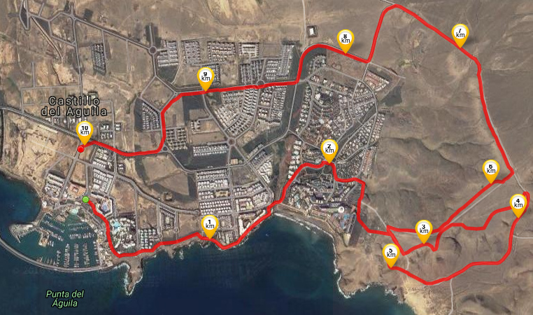 Running route from Villas de la Marina