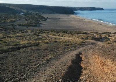Running Routes in Lanzarote - Trail down to Playa Mujeres