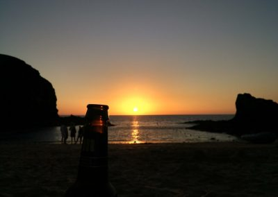 A beer in Papagayo Beach